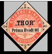 Thor øl etiket